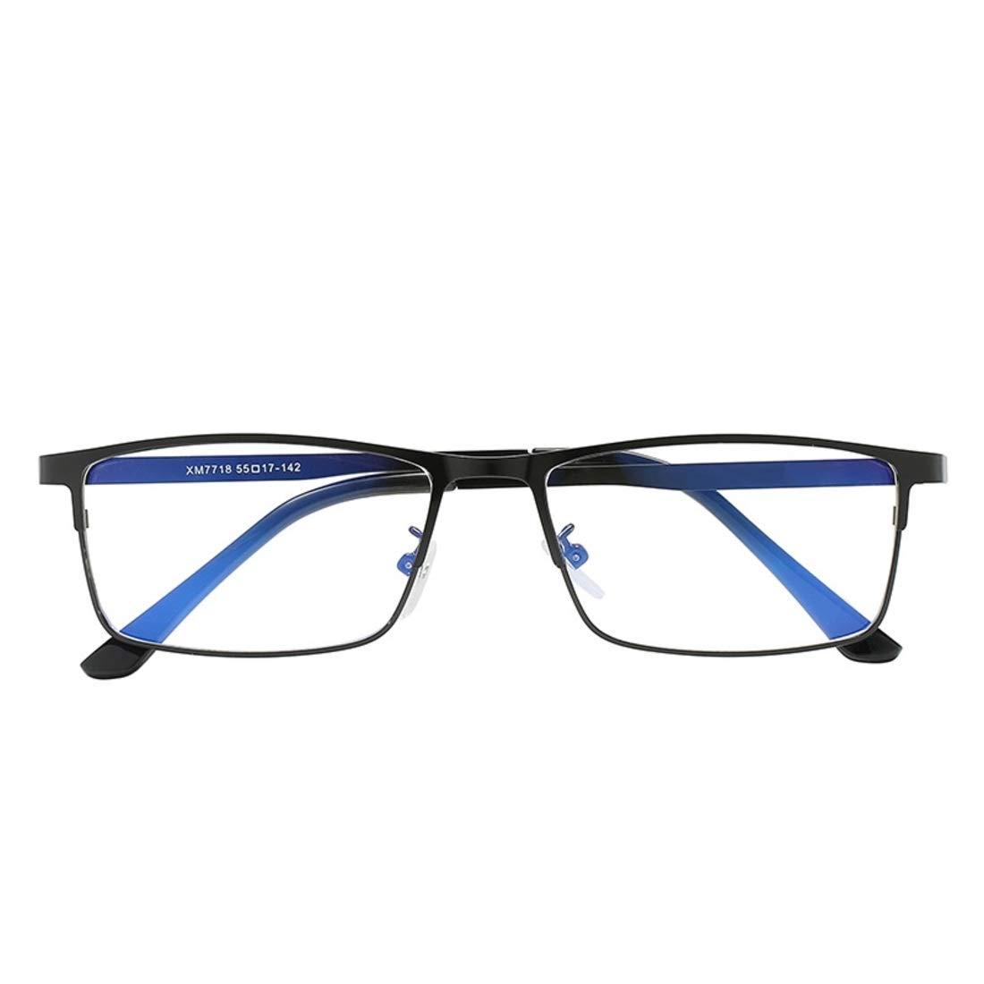 Funytine Gafas de luz cuadradas contra Azules cl/ásicas de los Hombres de Negocios de la Moda de Metal Cuadrados para Mujeres Gafas de Ordenador Color : Gold