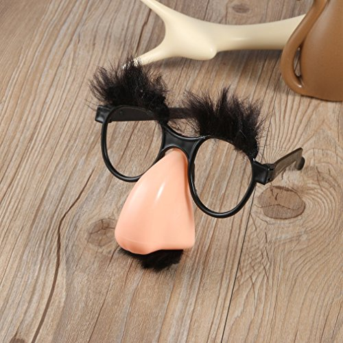 Dastrues Hot1Pcs Fake Nose Eyebrow Mustache Clown Fancy Dress up Costume...