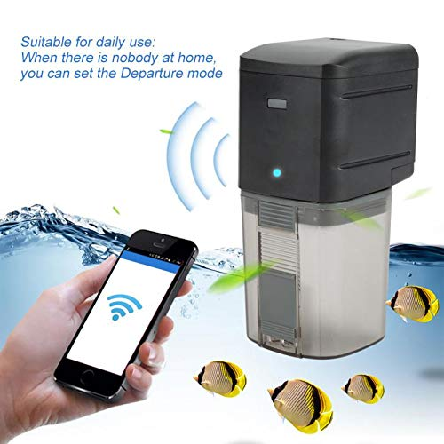 SISHUINIANHUA WiFi Wireless Remote Fish Feeder Smart Pet Products Automatic Feeder Machine Fish Tank Timer Feeder Support Voice Smart Function by SISHUINIANHUA