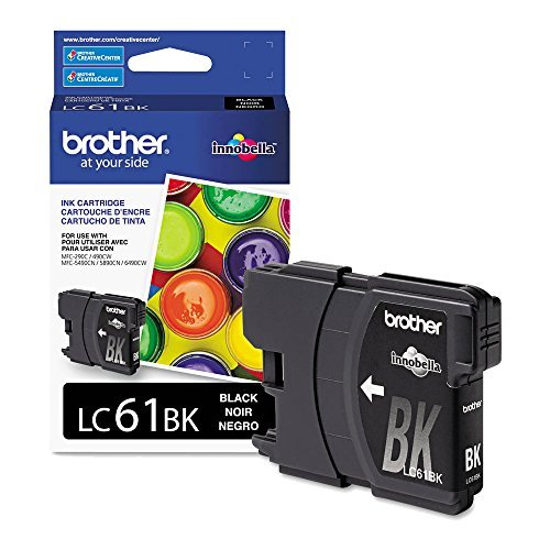 - Brother LC61BK Black Original Ink Standard Yield (450 Yield)