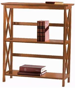 Montego 2 shelf Bookcase, LOW, WALNUT