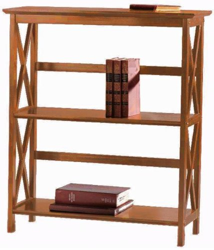 Montego 2 shelf Bookcase, LOW, ESPRESSO