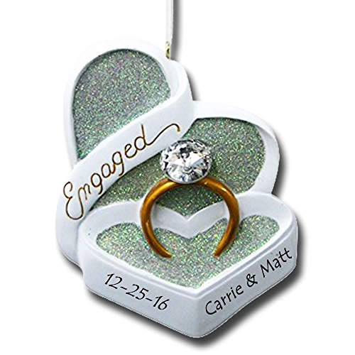 Personalized Engaged Heart Box