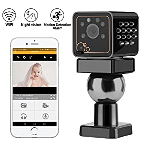 Hidden Camera - WIFI Spy Camera - Mini IP Security Came - HD 1080P Wireless Nanny Cameras for Home - Remote View for iPhone Android - Motion Detection Alarm - Night Vision