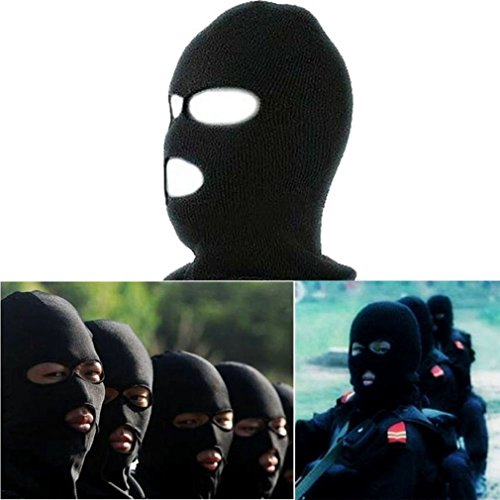 - Sport Men's Ski Knit 3 Hole Full Face Mask Balaclava Hat Winter Stocking Cap