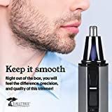 ToiletTree Products Water Resistant Stainless Steel Nose and Ear Hair Trimmer with LED Light