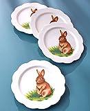 The Lakeside Collection Set of 4 Salad Plates Bunny