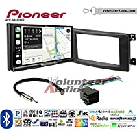 Volunteer Audio Pioneer AVIC-W8400NEX Double Din Radio Install Kit with Navigation, Apple CarPlay and Android Auto Fits 2008-2010 Smart Fortwo