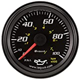 Equus 6244 2'' Mechanical Oil Pressure Gauge, Black
