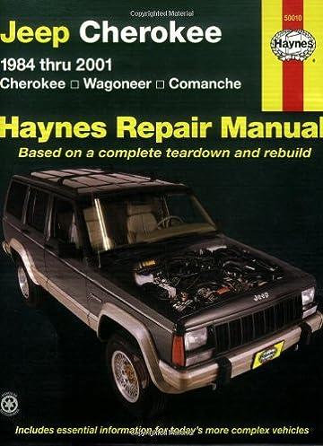 jeep cherokee wagoneer comanche 1984 2001 haynes repair manuals rh amazon com 1998 Jeep 4 0 Wiring Schematic Jeep Wiring Schematic