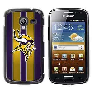 Vikingos Equipo deportivo - Metal de aluminio y de plástico duro Caja del teléfono - Negro - Samsung Galaxy Ace 2