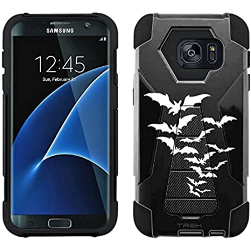 Samsung Galaxy S7 Edge Hybrid Case Bats on Black 2 Piece Style Silicone Case Cover with Stand for Samsung Galaxy S7 Edge Sales