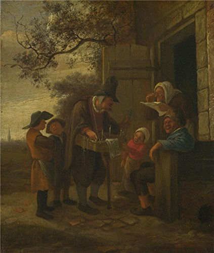 'Jan Steen A Pedlar Selling Spectacles Outside A Cottage ' Oil Painting, 16 X 19 Inch / 41 X 48 Cm ,printed On High Quality Polyster Canvas ,this Best Price - Vogue Spectacles Price