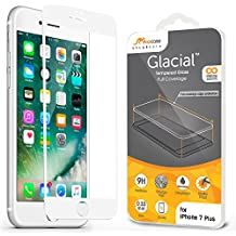 iPhone 7 Plus Screen Protector, rooCASE Full Coverage Tempered Glass Screen Protector for Apple iPhone 7 Plus 5.5 Inch - 3D Edge to Edge Coverage, 9H Hardness, Scratch-Resistant, White