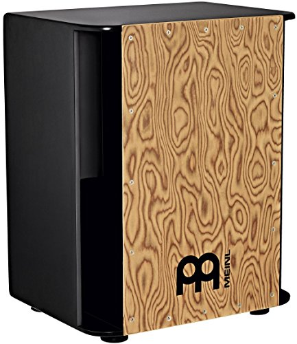 Meinl Vertical Subwoofer Bass Cajon with Internal Snares - NOT MADE IN CHINA - Makah Burl Playing Surface, 2-YEAR WARRANTY (SUBCAJ6MB-M)