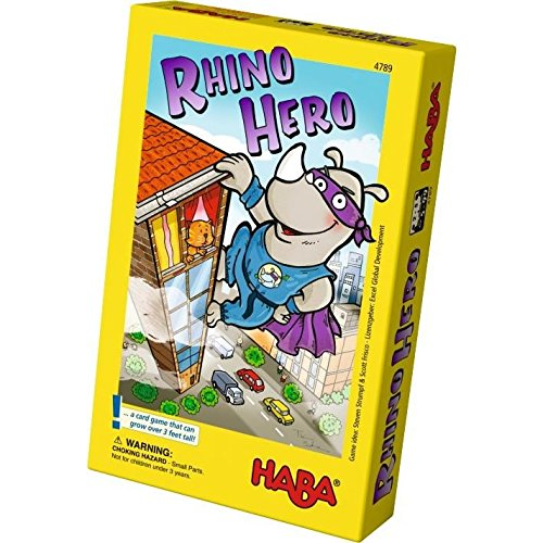 HABA Rhino Hero A Heroic Stacking Card Game for Ages 5 and Up