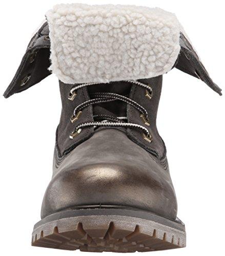 Timberland Authentics Teddy Fle Wheat - Botas Track Mujer Warm Grey Nubuck W Metallic Finish