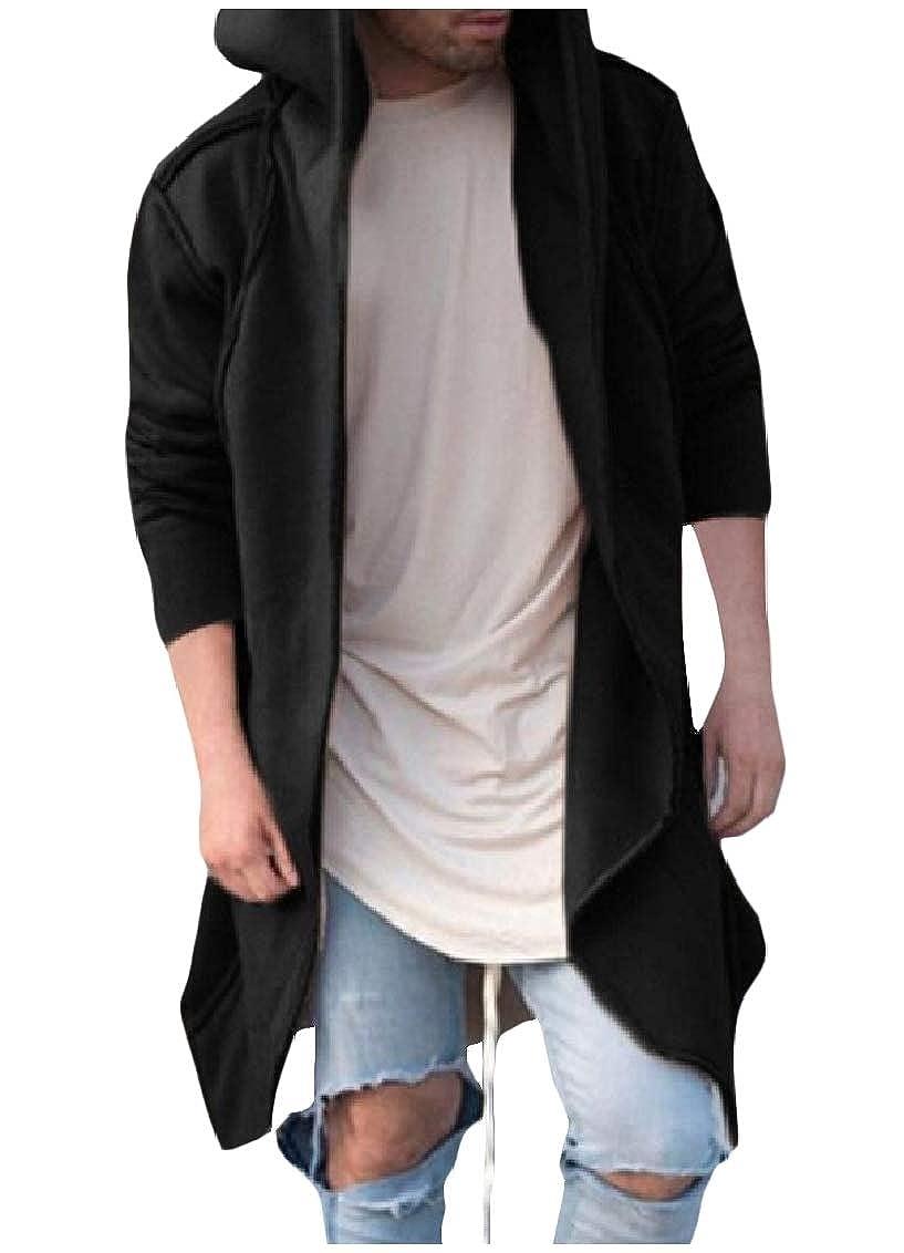 Freely Mens Japanese Cardi Sweatshirts Long Sleeve Hooded Overcoat