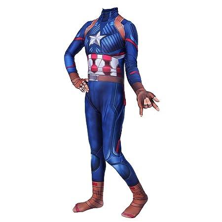 YIWANGO - Disfraz de Capitán América para Adultos y niños ...