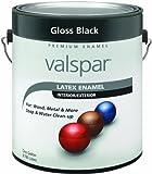 Valspar 65048 Premium Interior/Exterior Latex Enamel, 1-Gallon, Gloss Black