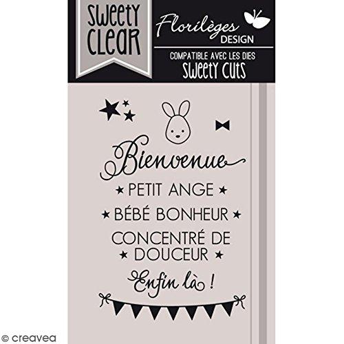 Sweety Clear Bienvenue b/éb/é Tampon transparent Floril/èges Design