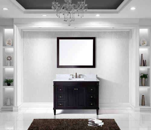 Virtu USA ES-40048-WMSQ-ES Tiffany 48-Inch Single Bathroom Vanity Set, - Tiffany Es