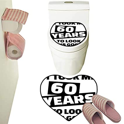 Amazon com: Rug Toilet Sets It Took Me 60 Years Party Quote