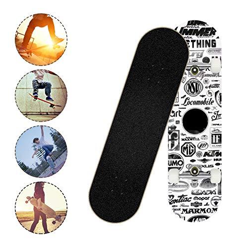 SKATEWANG Complete Skateboards,31 Inch Standard Skateboards Cruiser,Four-Wheel Brush Street Long Board,Longboard Double…