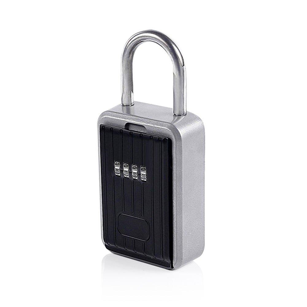 Nuzamas Realtor Key Lock Box Safe LockBox 10 chiffres Combinaison Safe Vault –  Portable exté rieur Store d'une clé , partager et clé s sé curisé es –  Support de poigné e