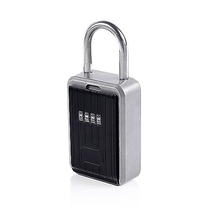 NUZAMAS - Caja de cerradura con cerradura para llaves, 10 dígitos, combinación segura,