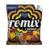 Fazer Re-Mix + Choco - Mix of Liquorice, Salmiac, Chocolate & Fruity Wine Gums Candy - Party Bag - 325g