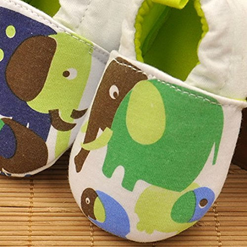 Feoya - Antirutsch Sohle Babyschuhe Super leicht Lauflernschuhe mit verschiedenen Motiven für 0-1 Jahr alt Baby - Herstellergröße 12M