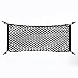 Cargo Net - 100x40cm Nylon Plastic Black Car Storage Bag, Truck Rear Cargo Net Luggage Organizer, Hook Pouch