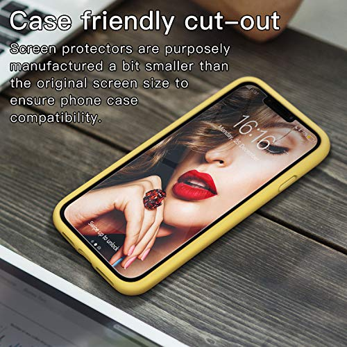 JASBON Case for iPhone 11 Pro Max,Silicone Shockproof Phone Case with Tempered Screen Protector Gel Rubber Drop Protection 6.5 inch Cover for iPhone 11 Pro Max 2019-Yellow