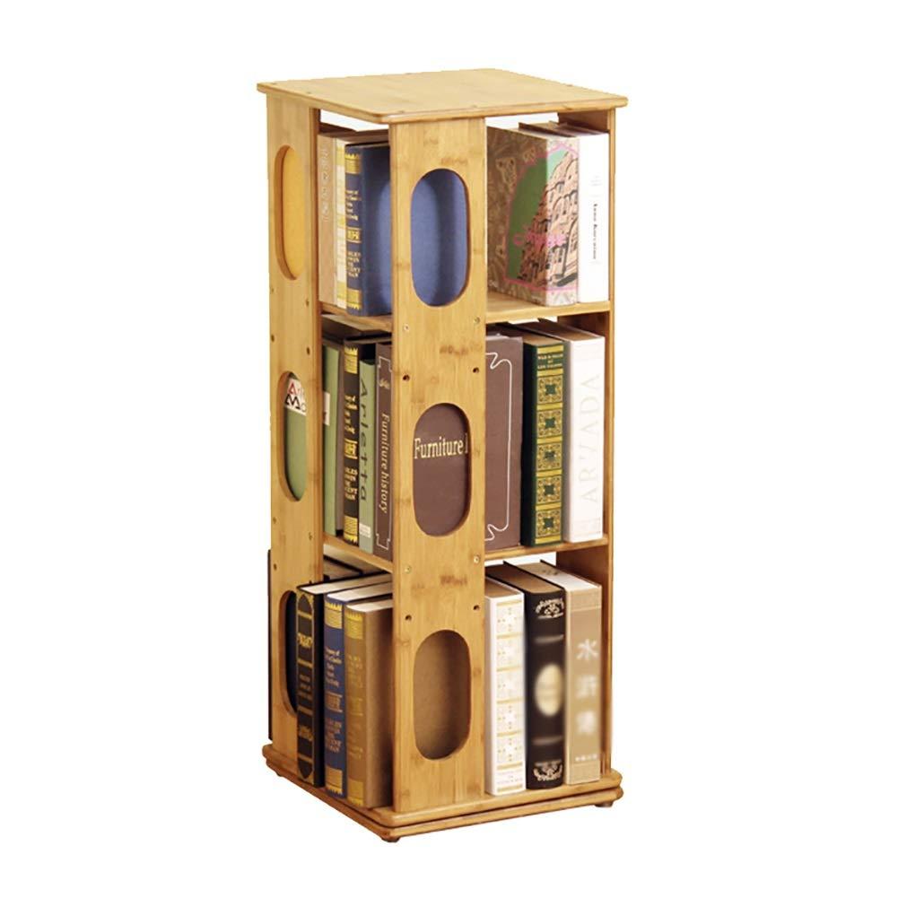 竹360º回転書棚クリエイティブフロアスタンド学生シンプル本棚サイズオプション (色 : 3 layers)  3 layers B07R3TKRNR