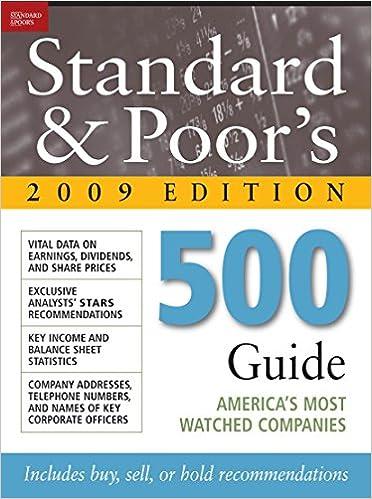 Standard & Poor's 500 Guide 2009 PB