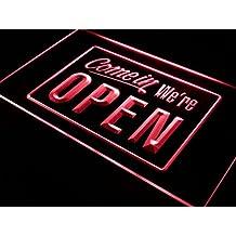 ADV PRO i001-r We're OPEN Shop Cafe Bar Display Neon Light Sign