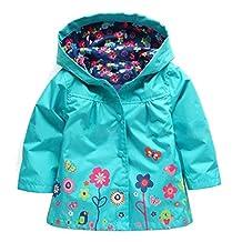 Shiny Toddler Little Girls Kids Waterproof Outdoor Hoodied Coat Jacket RainCoat/Pants