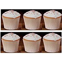 250 White Bulk Large Jumbo Texas Muffin/Cupcake Cups White flutted Cupcake Liners Baking Cups