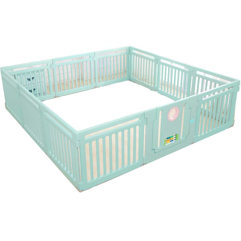 almacén al por mayor verde Corralito Corralito Corralito Baby Jugarpen Kids Baby Juego de Seguridad al Aire Libre en Interiores Jugarpen Fence Classic Set 11 + 1 Panel (Color   verde)  preferente