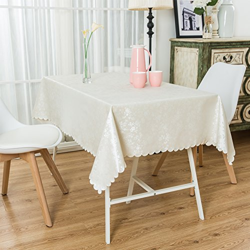 WORDERFUL Tablecloths For Rectangle Tables Heavy Duty Wipe Clean PU Tablecloths Oil-proof Waterproof Stain-resistant Table Cover (2) by WORDERFUL (Image #1)