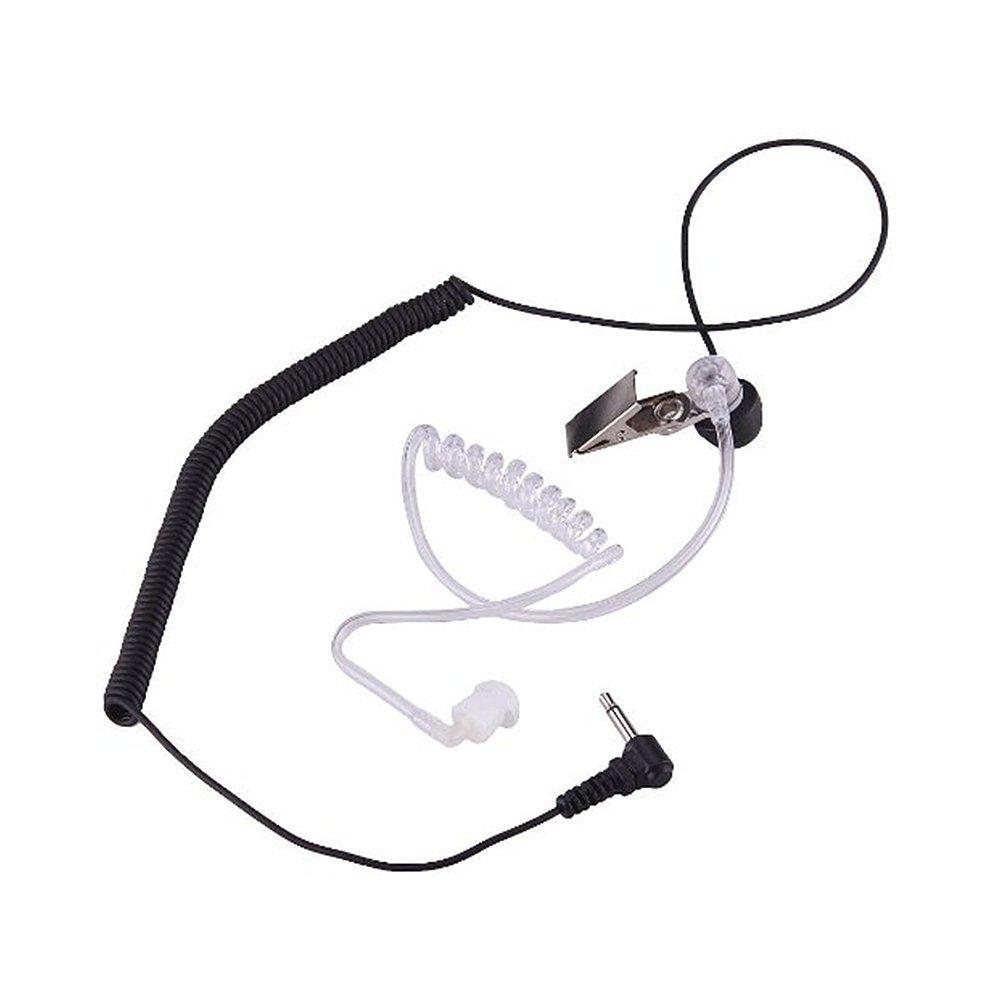3.5mm FBI Covert Acoustic Tube Earpiece Earphone for Two Way Radio Speaker Mic