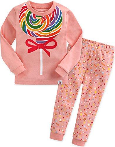 Vaenait baby Kids Girls 100% Cotton Sleepwear Pajamas 2pcs Set Lolipop M -