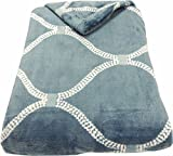 Image of Mezzati Velvet Plush Throw Blanket - Amazingly Comfy, Soft and Cozy - Elegant and Modern Designs and Colors - Perfect for Couch, Sofa (Navy Dark Blue Link)