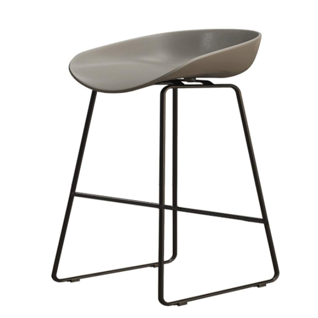 J Sitting height 45CM Iron High Stool Bar Chair Restaurant Counter Chair Cafe Metal Chair Modern Minimalist Home backrest high Chair (color   C, Size   Sitting Height 45CM)