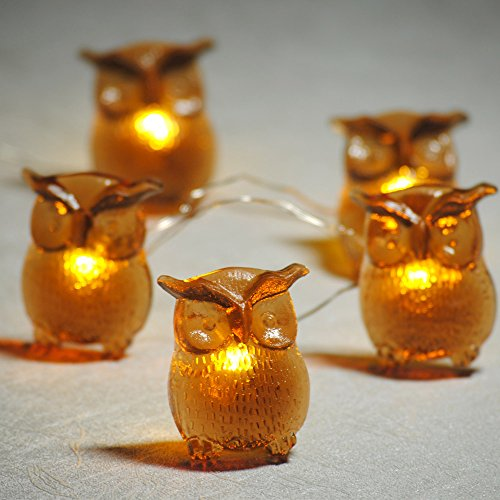 Impress Life LED Christmas String Lights, Big Owl 10Ft 20 LED Battery-Operated Fairy Lights with Remote & Timer for DIY Decor Fall Autumn Thanksgiving Holloween Xmas Tree Wedding Party