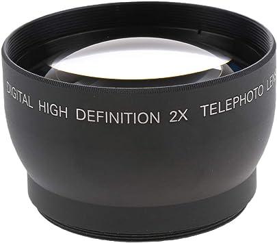 Baoblaze 52mm 2X Teleconverter Universal Teleobjetivo Accesorios ...