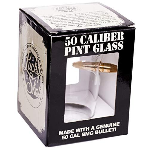 Lucky Shot .50 Cal Real Bullet Handmade Pint Glass - Set of 4 by Lucky Shot (Image #5)