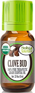 Organic Clove Bud Essential Oil (100% Pure - USDA Certified Organic) Best Therapeutic Grade Essential Oil - 10ml