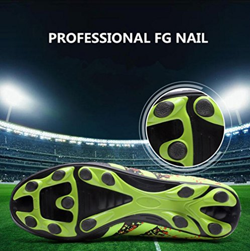 A Top Color 39 Football Children's Outdoor Shoes Men Teenagers Football Boy's Shoes High Unisex Size Shoes Training Lawn FxqZxAgwf